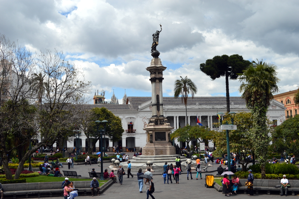 Independent square Ecuador