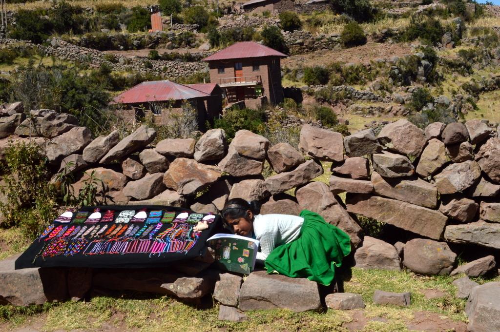 Taquile,Titicaca gölü, Peru
