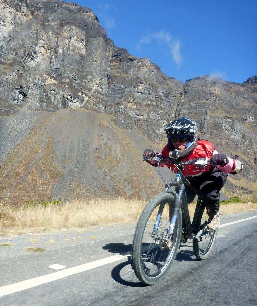 Ölüm Yolu, bisiklet turu başlangıç, Bolivya