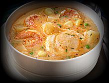 Peru karides çorbası