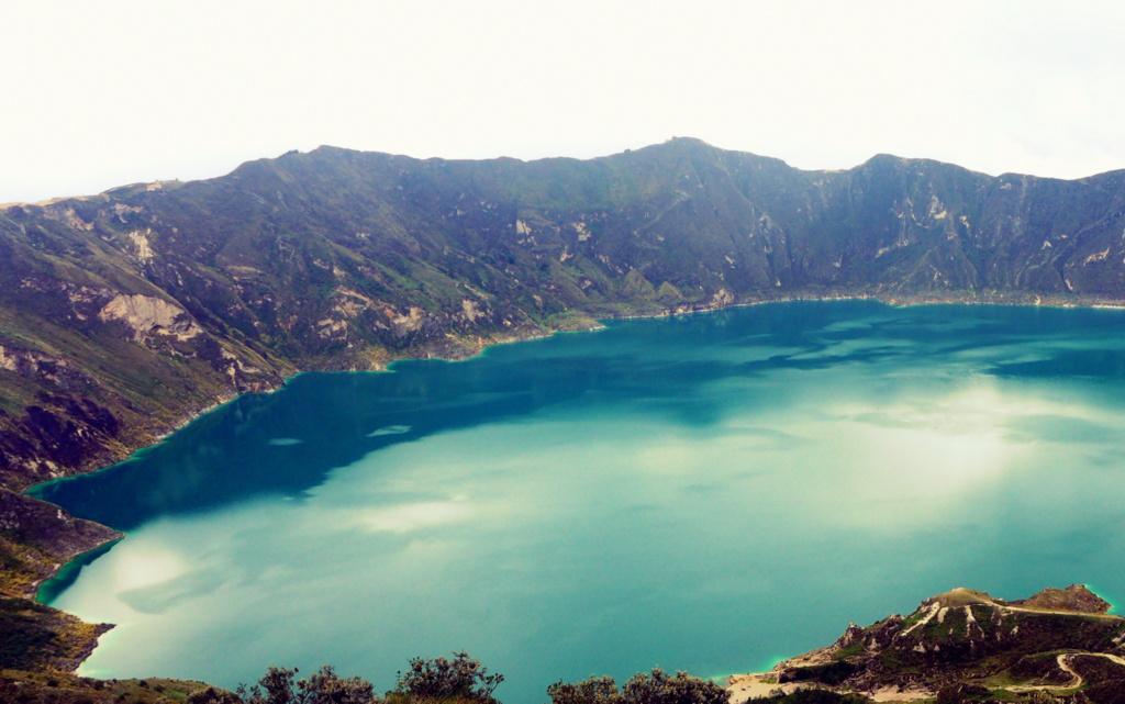Quilotoa gölü, Ekvador