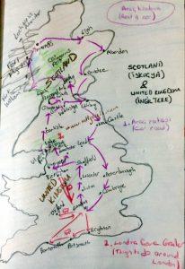 İngiltere İskoçya gezi haritası