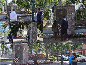 Santiago' da Atatürk heykeli